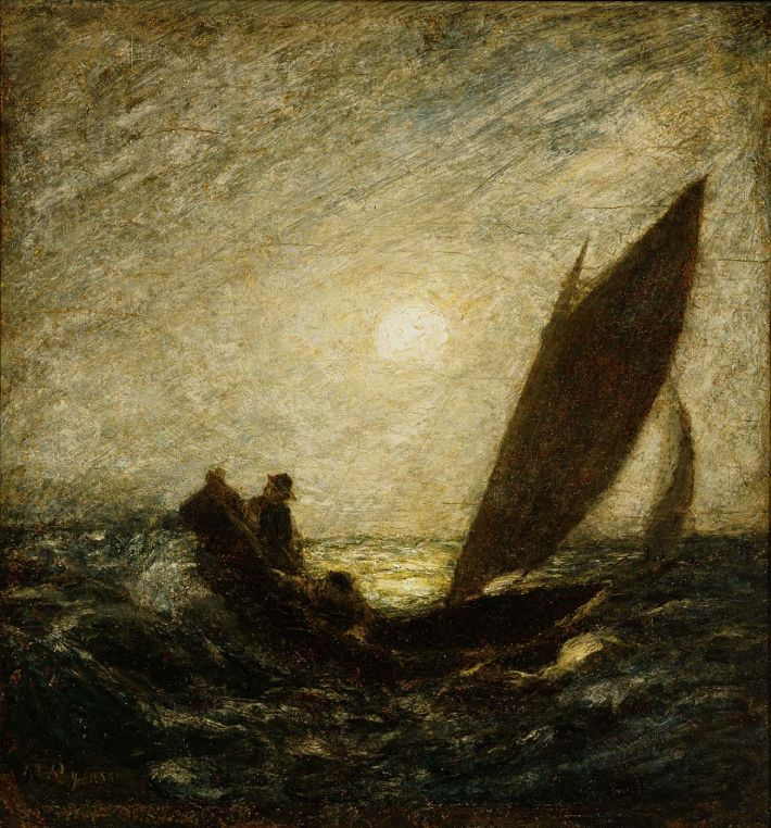 Albert Pinkham Ryder_With Sloping Mast and Dipping Prow